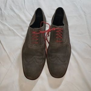 Cole Haan Grey Suede Wingtip Oxford Shoes Size 12